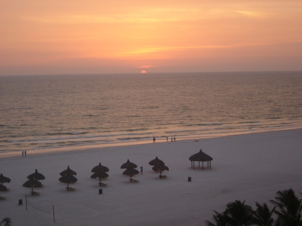 It isn't Sarasota but Marco Island has beautiful sunsets as well...